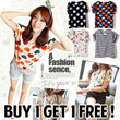 DEC 11 NEW!! buy 1 get 1 free shipping free short sleeve chiffon shirt 16 candy color 3 size LV-1213