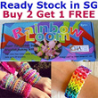 ★Rainbow Loom Bracelet Making Kit★ Ready Stock in SG. Buy 2 Get 1 FREE pack of Rubber Band. Free Shipping. Apr 2014 New Arrivals