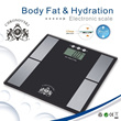Measure Body Fat Hydration Muscle and Bone Percentage with Fat Analyzer CHRONOVSKI Weighing Scale. G