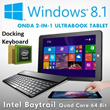 Onda Retina IPS Windows Tablet Ultrabook Tablet 2-IN-1 Laptop Computer Intel Quad Core 64 Bit CPU Cheaper than Surface Pro