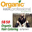 [4 Locations] $58 for Organic Hair Coloring + Cut +Wash+Blow 90mins (Worth S$141) at Organ