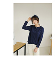KOREAN STYLE ★ BASIC SPANDEX BUTTON LONG SLEEVE TEE / Version2.0
