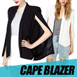 WOMAN CAPE BLAZER/ AVAILABLE IN BLACK AND WHITE/ FREE SIZE/ GOOD QUALITY