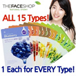 [THE FACE SHOP] Air Pocket Pulp Sheet! Real Nature Mask Sheet 15PCS Set (Honey Aloe Lemon Rice Etc)