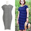 ★★★SUMMER AIRY STRIPE BODYCON DRESS★★★HIGH QUALITY SMLX SELF MADE/BASIC DAY DRESS/SUMMER LOOK/HOLIDAY/POLYESTER DRESS/MATERNITY DRESS