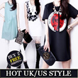 【15/4 Update】Hotest Style ! 【BUY 2 FREE SHIPPING】2014 New Arrival UK Dress T-Shirts Blouse【In-Stock fast delivery】