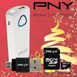 [PAKET HEMAT ORIGINAL PNY] PNY Powerbank 5200mah + OTG PNY + MicroSD 16GB Class 10 ORIGINAL PNY Paling MURAH!!! *Christmast Promo*