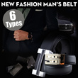 【M18】2014New style men belt/ business and casual style/high quality cow leather/ automatic buckle or plate buckle/ fashionable and durable/genuine leather/ multi-color and  6 types/ Korean style