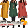 Autumn new arrival 2013 fashion women autumn long-sleeve cotton tops irregular sweep one-piece dress