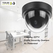 Dummy CCTV Dome Security Camera (Flashing LED Light)As Deterrent against Thieves + Security Safe System Home House shop Garden factory Car bicycle maid baby fake pinhole ip cam videocam Christmas Gift