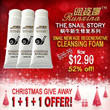 ★RUNZINA CHRISTMAS GIVEAWAY★ 1 + 1 + 1 Snail New Age Regenerative Cleansing Foam skin Anti Aging Moisturizing acne scar Wrinkles skincare skin care face wash Deep Cleaning facial cleanser gel 润姿娜