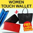 [FREE OVERSIZE BAG!!]WOMEN TOUCH WALLET/DOMPET WANITA**HITAM/MERAH/BIRU/NUDE/PURPLE**IMPORT