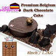The MOST PREMIUM BELGIUM DARK CHOCOLATE CAKE  / 8 Inch/1.2Kg /Recipe ganache cake made from the finest Belgium chocolate selected by Shangri la International/ Delivery Available !