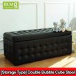 [Storage Type]Single/Double Bubble Cube Stool★Storage Box★Ottoman★Chinese New Year★CNY★Furniture★Local Seller★Local Delivery