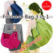 [NEW COOL BAG] **Foldable Bag 3 in 1** [WATERPROOF] *4 COLORS* Shoulder Bag*Sling Bag*Backpack