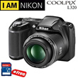Nikon Coolpix L320 16.1MP Black + Free memory card 8GB
