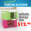 [KANO] Foldable Fabric New Prime Storage Box - Household