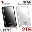 ADATA DashDrive HV620 Portable External Hard Drive 2TB USB 3.0 Black