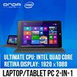 Onda 8.9inch Retina IPS Windows Tablet Ultrabook Tablet 2-IN-1 Laptop Computer Intel Quad Core 64 Bit CPU