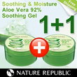 ★ALOE GEL 1+1 + FREE SHIPPING★ Nature Republic ALOE Vera 92% Soothing Gel 300ml from South Korea and GET FREE SHIPPING FEE !!