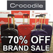 CROCODILE Luggage/Suitcase: Choose from 3 Colours to Suit Your Travel Style. 2 Sizes Available
