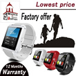 【Factory Offer】U8 Smart Watch Bluetooth Touchscreen For iPhone 5s Samsung Galaxy Android 4.0 smart phone(U8 for Samsung/Apple/Sony/HTC etc.)