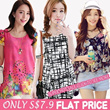 ONLY S$7.9 Flat Price New Arrivals Plus Size Dresses Tops