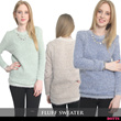 NEW!! FLUFF SWEATER / PREMIUM QUALITY / IMPORT from KOREA ! / SPECIAL PRICE ! / Casual and Chic / Comfortable / Soft / Super Stylish / Sweater / Blouse / Tshirt