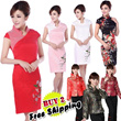Buy 2 Free Shipping Fashionable Glamourous Cheongsam Chinese dress 旗袍 QIPAO CNY DINNER Wedding Dress Sexy Modern Cheongs women dress