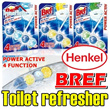 HENKEL Bref Toilet Cleaner/Toilet Refresher/No more toilet cleaning/home/air purifier