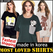 ★[ML Story]Sporty jersey cropped button-up knit shirts tee  MADE IN KOREA KOREAN Style PLUS SIZE.! Over 100 Designs.! Travel Item Travel Acc