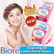 Limited Period Sale - Biore Cotton Facial Sheets Wipes Make Up Remover / Refill 48 Sheets  / Box 44 Sheets