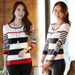 ★Buy 2 Free Shipping ★New Korean sweater / long-sleeved T-shirt 2014 New High Quality autumn