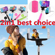 **BEST DEAL**2in1 Selfie Rotary Extendable Handheld Monopod with Built-in Shutter~4 Colors~No Need Battery or Charging~~