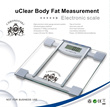 uClear Transparent Electronic Body Fat Measurement  Scale BMI Fat Analyser Measures  Body Fat Hydrat