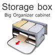 ▶Big Size Organizer Cabinets for nifty Organization◀ GDA- Multi_functional Storage Box Bags for Living goods Clothes Underwear etc...
