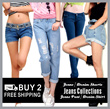 * Buy 2 Free Shipping * Jeans / denim shorts / jeans pant / denim skirt / jeans collections/ Candy colored pencil pants denim pants feet