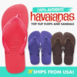 Havaianas Top flip flops sandals and shoes (Brand New  100% genuine) Free Shipping Mens and Womens sizes