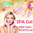 BUY 2 FREE SHIPPING [Highly Recommend] SPA Gel Premium Quality Gel Gloves/Socks ♥ Hand/Foot Treatment ♥ Moisturize ♥ Repair ♥ Whitening