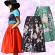 Midi Skirts ~ Many designs! Lace / flare / chiffon midi skirt