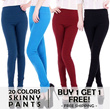 *BUY 1 GET 1 FREE* Spring New Candy-color Skinny Pants Leggings Korean Style Bottoms