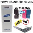 [new item]powerbank samsung 68000Mah_free powerbank samsung 7800Mah_free earphone_stock terbatas_grab it fast !!!!!