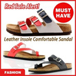 Leather Insole Comfortable Causal Sandal Slipers*Hollywood Style*Both for Men n Women! summer beach