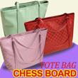 CHESS BOARD TOTE BAG 5 COLOUR [PLUS] CROCODILE SKIN TOTE BAG 6 COLOUR