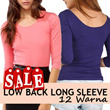 ATASAN LENGAN PANJANG/LOW BACK LONG SLEEVE**12_WARNA**COTTON STRETCH