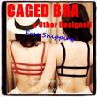 !Power Sale! -NEW Designs and Color- Stylish Sexy Trendy Fashion Stripes Caged Bra. Wear with bare back dress translucent dress tank top sports attire