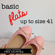 FREE SHIPPING ★Basic Flats★ Match Anything!!! Size 36 - 41! 5 colours!