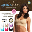 ★1Set 3pcs Flat fee★GenieBra★S-XXXL SIZE★FREE SHIPPING★Genie Bra 2style / 3colors set / Underwear /