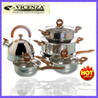 Vicenza Panci Set V-812 (Vicenza Stainless Cookware)