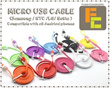 iPhone 5s 5 4s 4 micro cable samsung S2 S3 S4 Note 2 HTC Blackberry